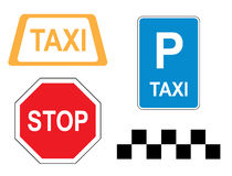 Signs - road information - vector Stock Image