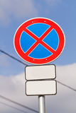 Signs on the road Royalty Free Stock Photo