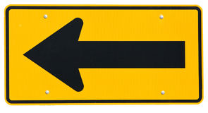 Signs: Road Turns Left Ahead Royalty Free Stock Photos