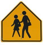 Signs: School Crossing Ahead Stock Image