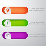 Signs. Set of paper signs of information location and wi-fi Stock Image
