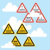 Signs set Stock Photography