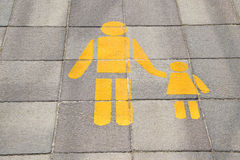 Signs on the side walk Royalty Free Stock Images