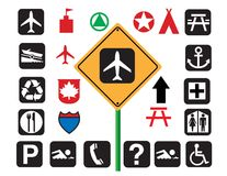 Signs, Signs, Signs! Vector. Stock Photo