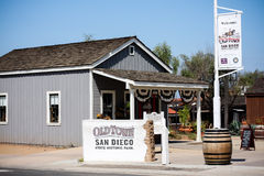 Signs stating Old Town State Park in San Diego, California Stock Image