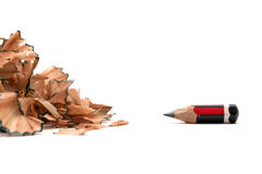 Signs of stress worn out pencil Royalty Free Stock Photos