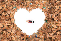 Signs of stress worn out pencil love Royalty Free Stock Images