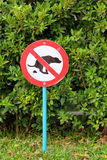 Signs symbolize ban feces dog Stock Images