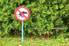Signs symbolize ban feces dog Royalty Free Stock Photography