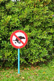 Signs symbolize ban feces dog.  Royalty Free Stock Image