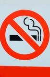 Signs symbolize no smoking. Royalty Free Stock Image