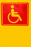 Signs symbolize parking for disabled persons Stock Photos