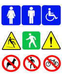 Signs and symbols. Vector illustration of signs and symbols Stock Photography