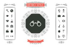 Binoculars symbol icon. Signs and symbols - graphic elements for your design Royalty Free Stock Images
