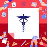 Caduceus medical symbol. Signs and symbols - graphic elements for your design Stock Photo