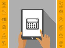 Calculator symbol icon. Signs and symbols - graphic elements for your design Stock Photography