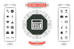 Calculator symbol icon. Signs and symbols - graphic elements for your design Stock Photos