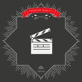Clapperboard icon symbol. Signs and symbols - graphic elements for your design Royalty Free Stock Photography