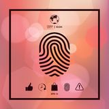 Fingerprint. Scanned finger icon. Signs and symbols - graphic elements for your design Stock Photos