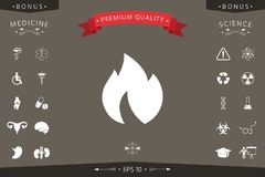 Fire, flame icon. Signs and symbols - graphic elements for your design Stock Image