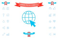 Go to web, internet icon. Signs and symbols - graphic elements for your design Stock Image