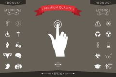 Hand click icon. Signs and symbols - graphic elements for your design Royalty Free Stock Photography