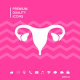 Human organs. Female uterus icon. Signs and symbols - graphic elements for your design Royalty Free Stock Image