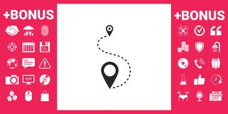 Location Icon symbol. Signs and symbols - graphic elements for your design Stock Images