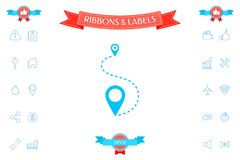 Location Icon symbol. Signs and symbols - graphic elements for your design Royalty Free Stock Images