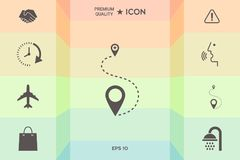Location Icon symbol. Signs and symbols - graphic elements for your design Royalty Free Stock Photos