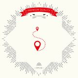 Location Icon symbol. Signs and symbols - graphic elements for your design Royalty Free Stock Image