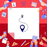 Location symbol Icon. Signs and symbols - graphic elements for your design Royalty Free Stock Photos