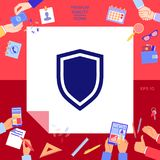 Shield, protection icon. Signs and symbols - graphic elements for your design Royalty Free Stock Photo