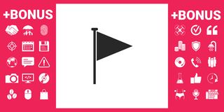 Triangle flag icon. Signs and symbols - graphic elements for your design Royalty Free Stock Photography