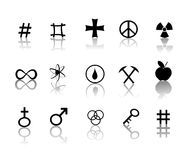 Signs and symbols icons set vector illustration