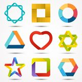 Signs and symbols set. Logo template. Stock Images