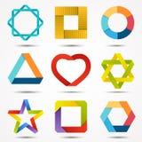 Signs and symbols set. Logo template. Modern vector creative abstract design symbols set stock illustration