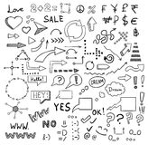 Signs and symbols vector set Royalty Free Stock Image