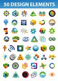 Signs and symbols for your corporate identity. Set of bright signs and symbols for your corporate identity - 50 abstract design elements Royalty Free Stock Image