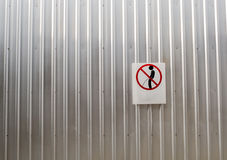 Signs of taboos pee on the wall Stock Photos