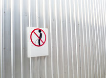Signs of taboos pee on the wall Stock Photo