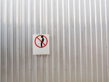 Signs of taboos pee on the wall Royalty Free Stock Photo