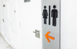 Signs to the bathroom. Royalty Free Stock Photos