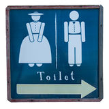 Signs to the bathroom Royalty Free Stock Photo