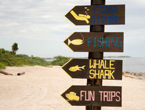Signs to fun in Mexico Royalty Free Stock Photo