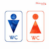 Signs - toilet, changing room, male, female, wc Royalty Free Stock Images