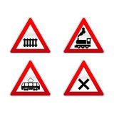 Signs traffic. Four s signs about traffic Stock Photography