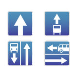 Signs traffic. Four s Signs about traffic Stock Images