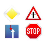 Signs traffic. Four Signs traffic on a white background Stock Images
