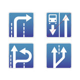 Signs traffic. Four Signs traffic on a white background Royalty Free Stock Photo